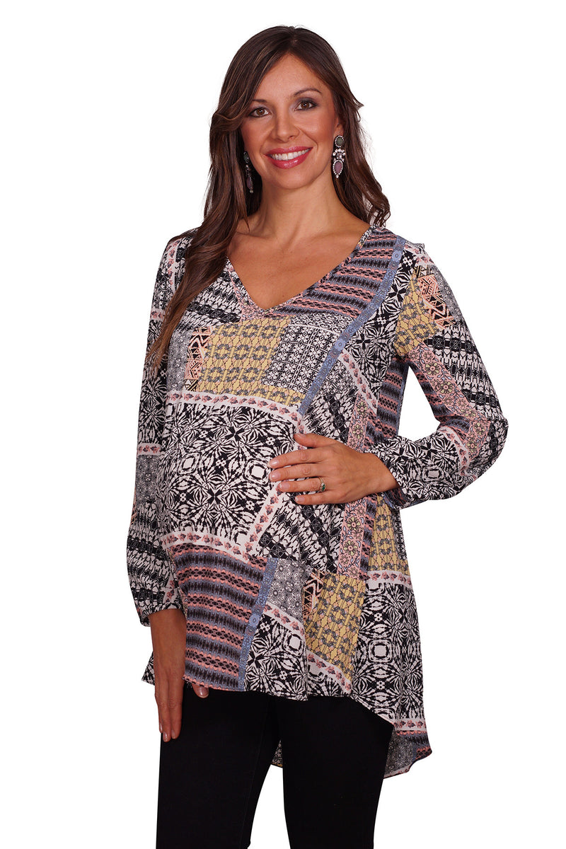 Geometric Maternity Tunic