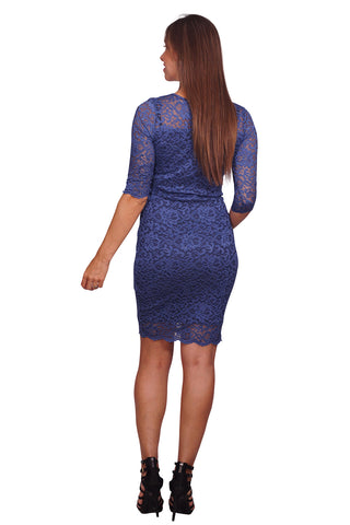 Fitted Lace Formal Maternity Dress
