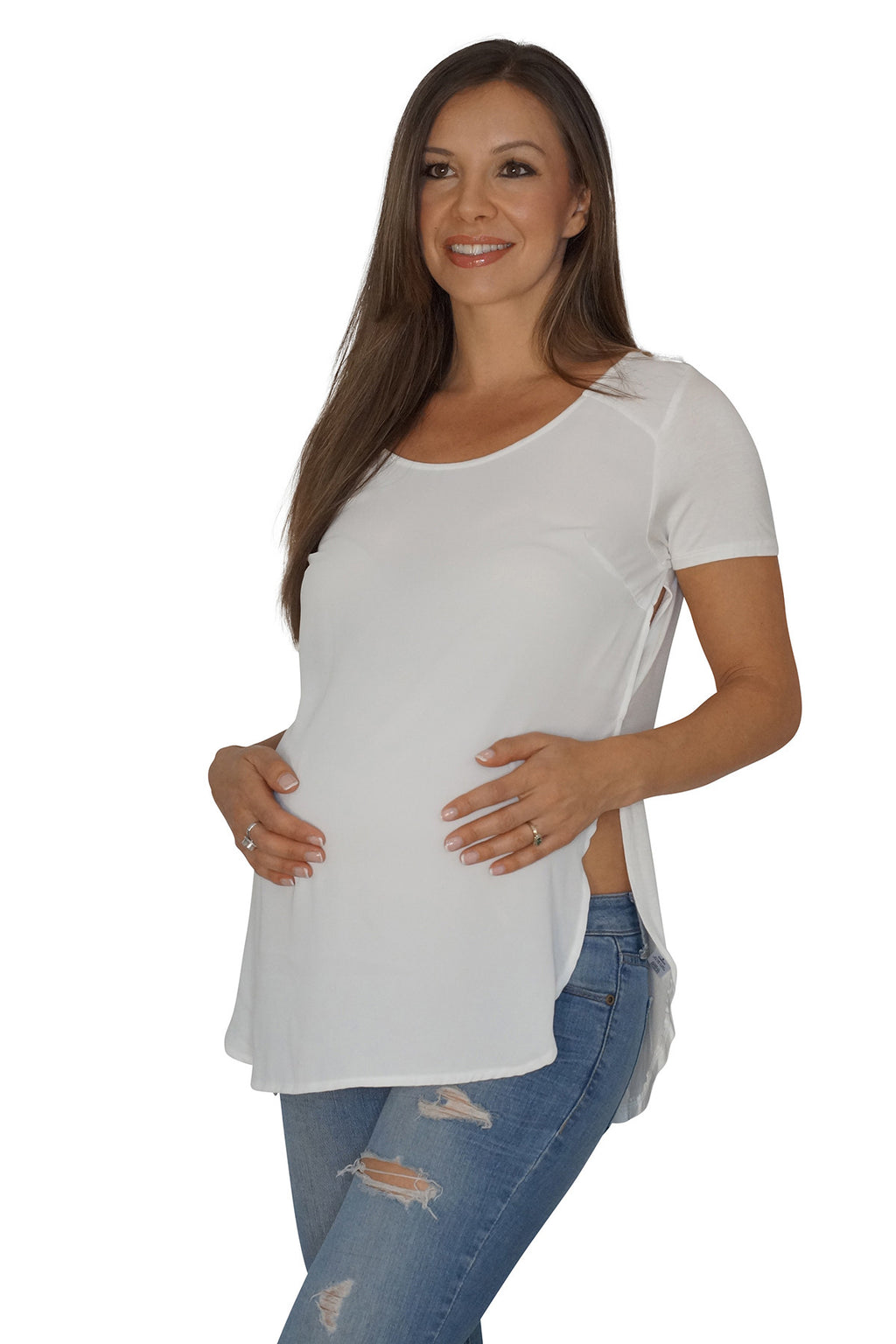 Split the Difference Maternity Blouse