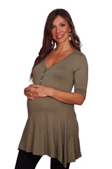 Button Down Maternity & Nursing Top