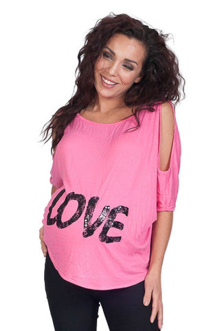 Pink Maternity Tops - Love-lace