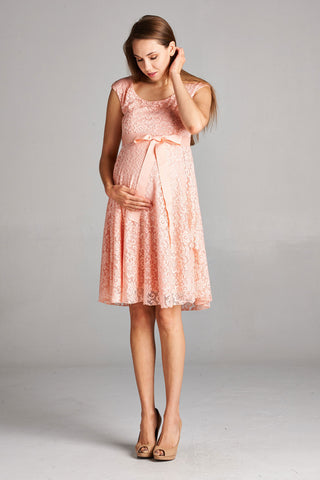 Floral Lace Round Babydoll Maternity Dress