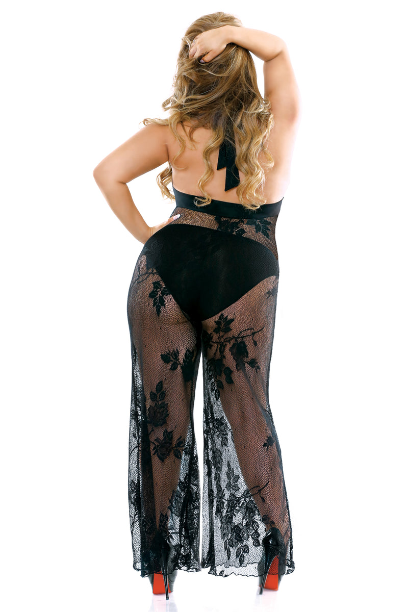 2PC Plus Stretch & Lace Jumpsuit - Mommylicious