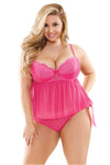 Plus Cami Top with Side Tie Panty - Mommylicious