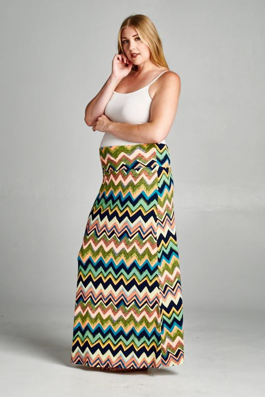 plus size maternity maxi skirt