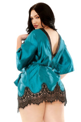 Plus Size Robe & G-string