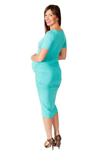 Mint Bodycon Maternity Dress