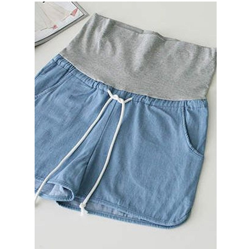 Loose Denim Maternity Shorts - Mommylicious