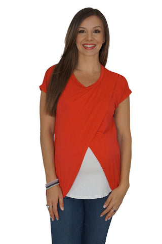 Peek-a-boo V-neck Nursing Top
