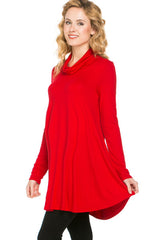red maternity turtleneck