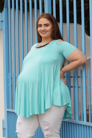 Spot the Shoulders Plus size Maternity Top