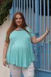 Spot the Shoulders Plus Size Maternity Top - Mommylicious