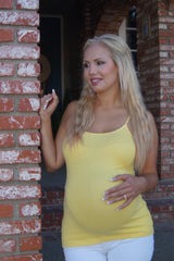 Yellow Maternity Tank Top - Stay Cool