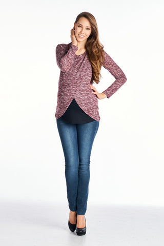 Long Sleeve Tulip Maternity & Nursing Top