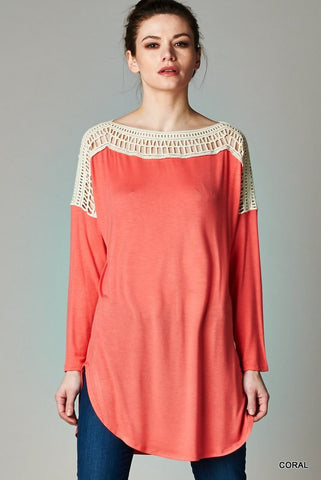 coral maternity tops