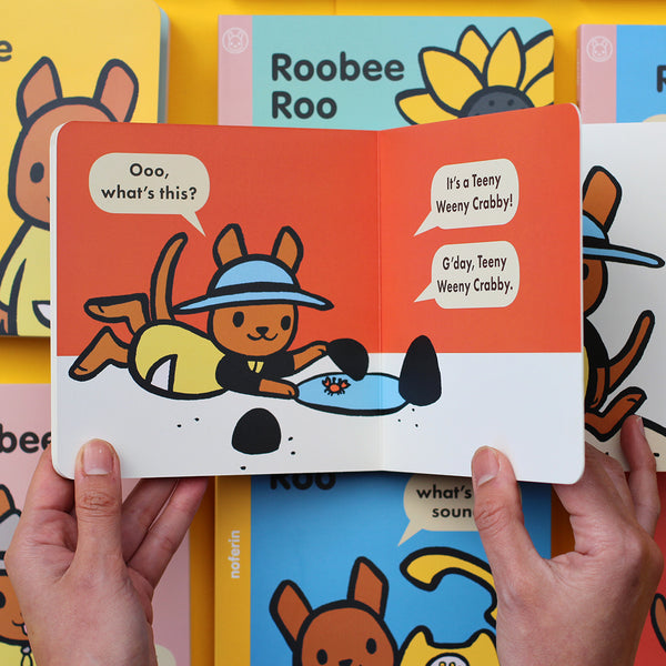 Australian themed board book series for young readers helps develop early literacy