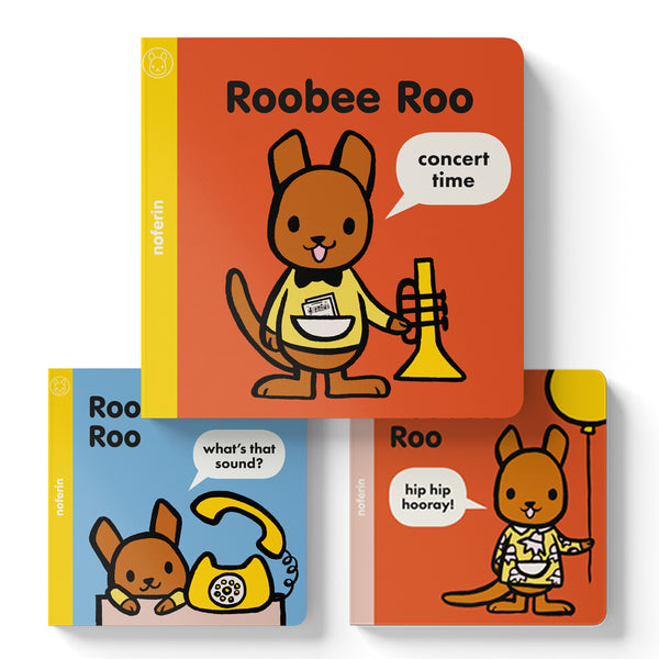 popular australian kids books from the Roobee Roo series that make good newborn presents for music lovers
