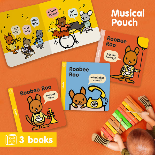 Australian board book series that introduces musical elements to young children