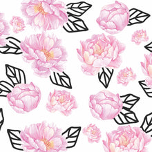 Load image into Gallery viewer, Graphic Peony Charger (ENLARGED TO SHOW DETAIL) - (SQUARE) Regular price