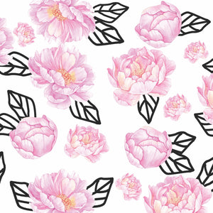Graphic Peony Charger (ENLARGED TO SHOW DETAIL) - (SQUARE) Regular price