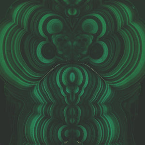 Malachite Charger (ENLARGED TO SHOW DETAIL) - (SQUARE)