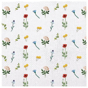 Needle Point Garden Charger (ENLARGED TO SHOW DETAIL) - (SQUARE)