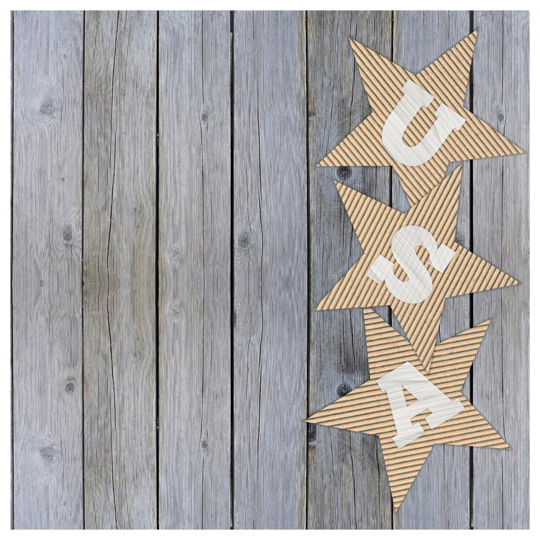 Rustic USA Charger (ENLARGED TO SHOW DETAIL) - (SQUARE)