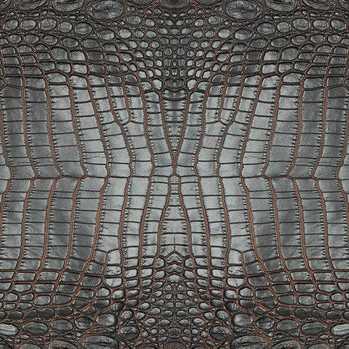 Charcoal Croc Charger (ENLARGED TO SHOW DETAIL) - (SQUARE)