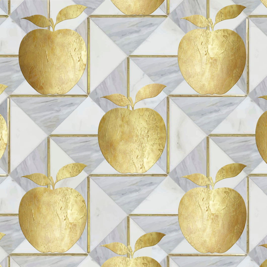 Golden Apple Charger (ENLARGED TO SHOW DETAIL) - (SQUARE)