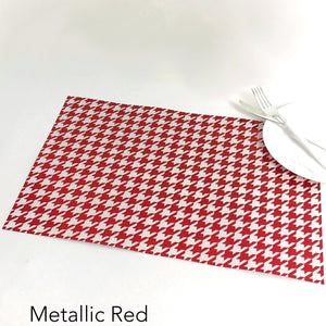 Foil Houndstooth - Placemat
