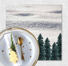 Load image into Gallery viewer, White Christmas Charger (ENLARGED TO SHOW DETAIL) - (SQUARE)
