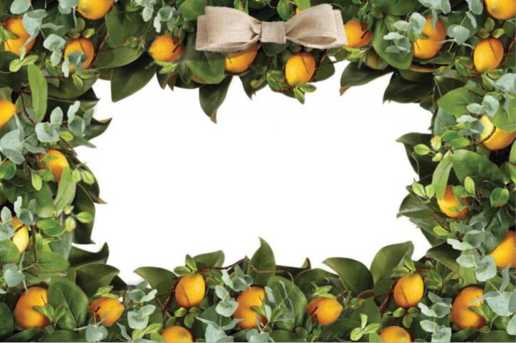 Lemon Wreath - Placemat