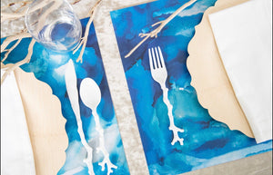 Swirl Blue - Placemat
