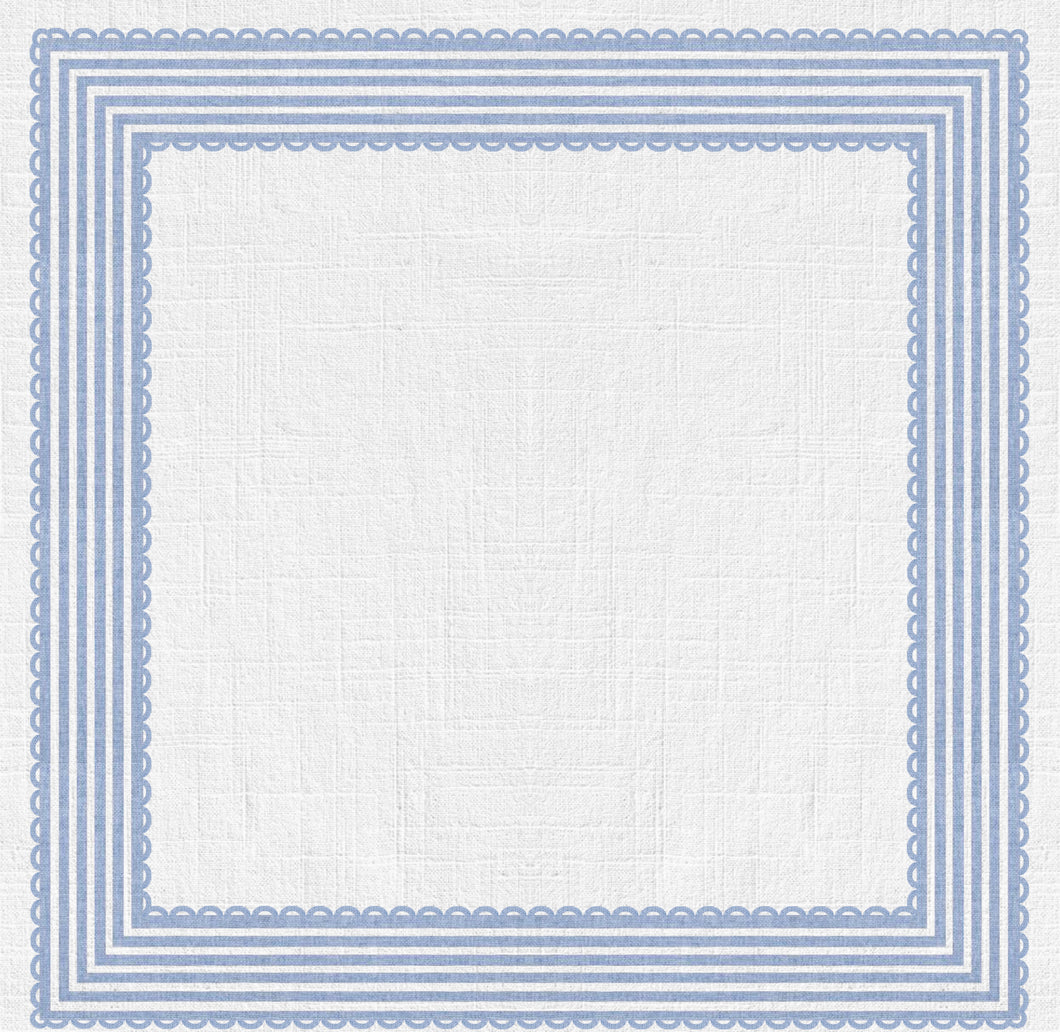 Ribbon Stripe Charger (ENLARGED TO SHOW DETAIL) - (SQUARE)
