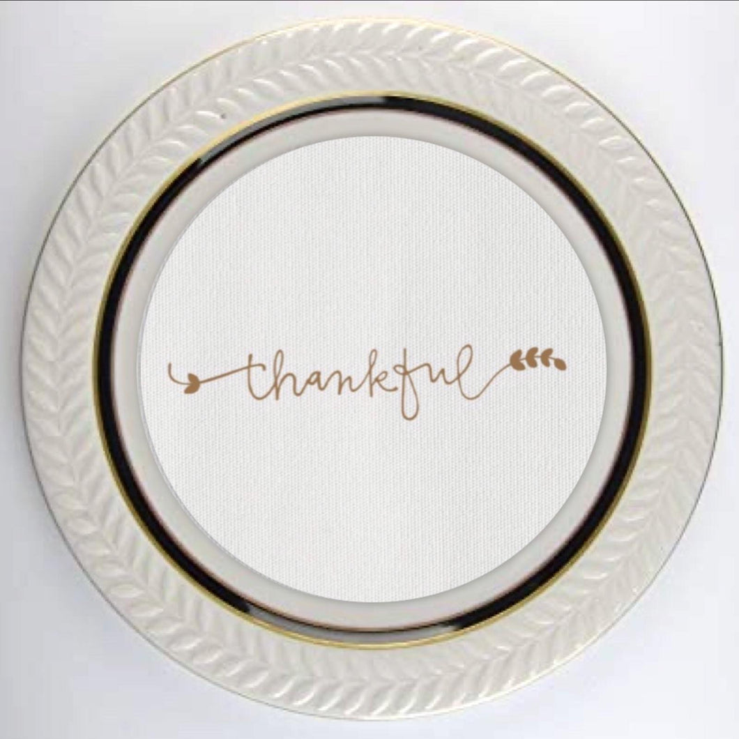 Thankful Gold Plate Accent