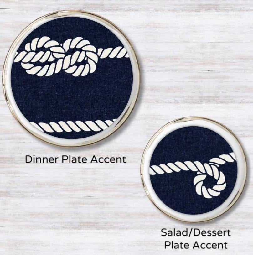 Nautical Mile Navy Plate Accent