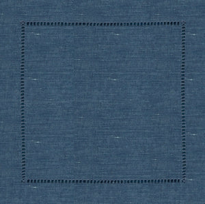 Chambray Hemstitch Charger (ENLARGED TO SHOW DETAIL) - (SQUARE)