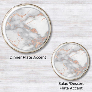 Metallic Rose Gold Marble Guild Plate Accent