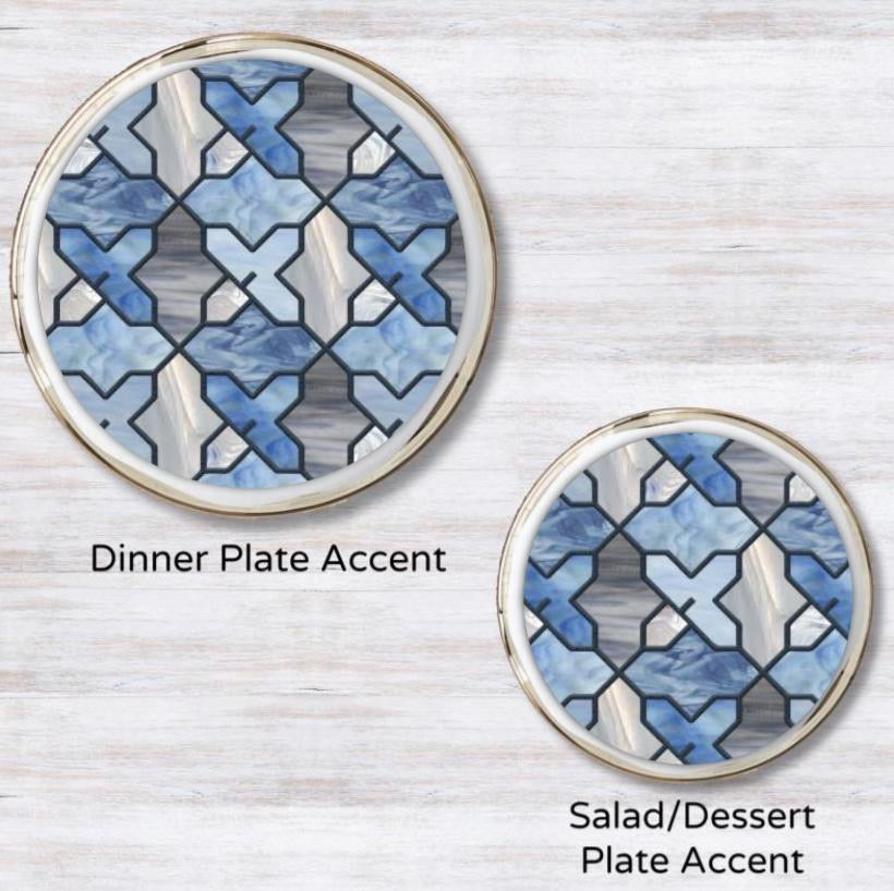 Classy Glassy Plate Accent