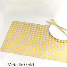 Load image into Gallery viewer, Foil Houndstooth - Placemat