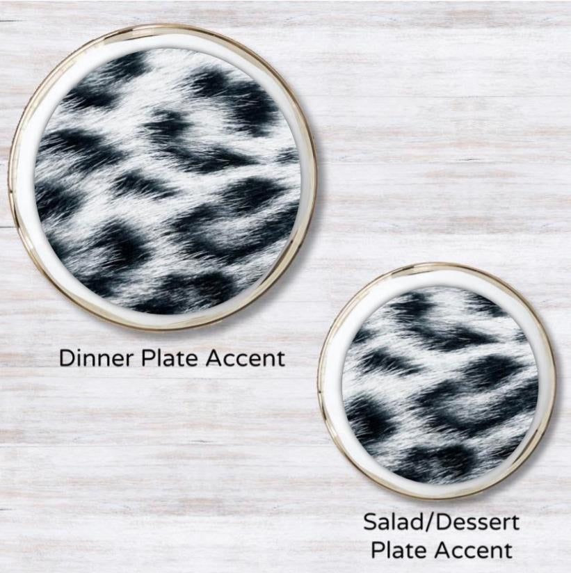 Snow Leopard Plate Accent