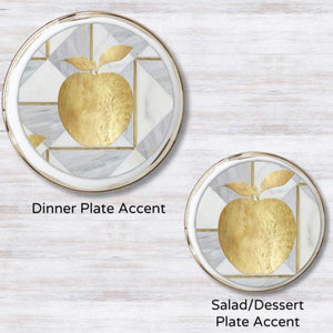 Golden Apple Plate Accent