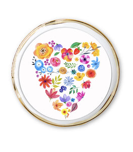 Floral Heart Plate Accent
