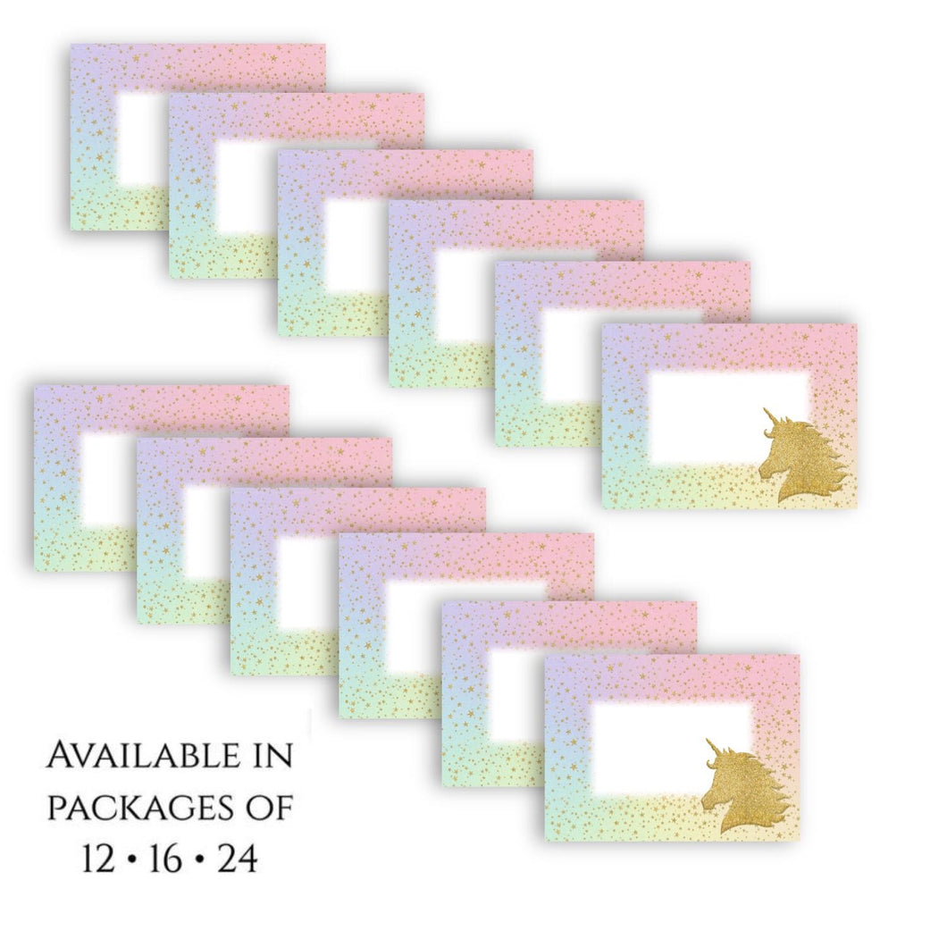 Unicorn Sparkle Placecards