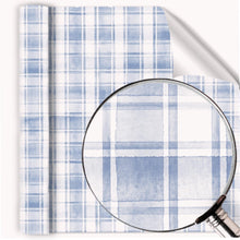 Load image into Gallery viewer, Painted watercolor Plaid Blue