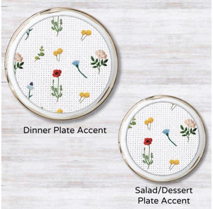 Needle Point Garden Plate Accent