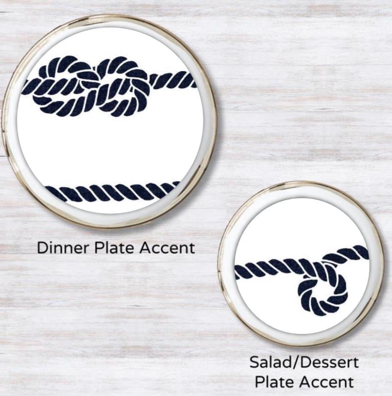 Nautical Mile White Plate Accent