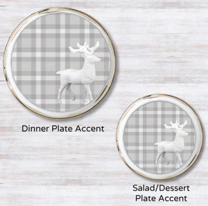 Prancer Plaid Plate Accent
