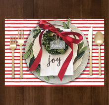 Load image into Gallery viewer, Red Painted Stripe - Placemat