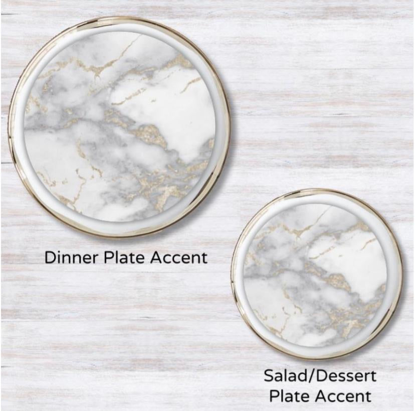 Metallic Gold Marble Guild Plate Accent